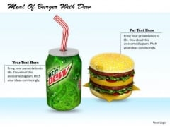 Stock Photo Business Strategy Plan Meal Of Burger With Dew Images Photos