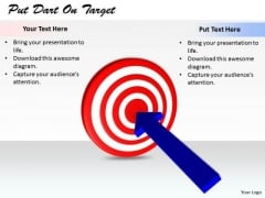 Stock Photo Business Strategy Plan Put Dart On Target Stock Photos