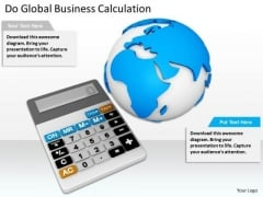 Stock Photo Business Strategy Plan Template Do Global Calculation Images