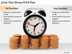 Stock Photo Business Strategy Plan Template Grow Your Money With Time Stock Photo Clipart
