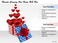 Stock Photo Business Strategy Plan Template Hearts Coming Out From Box Stock Images
