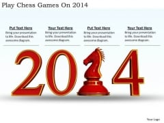 Stock Photo Business Strategy Plan Template Play Chess Games On 2014 Best Stock Photos