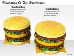 Stock Photo Business Strategy Planning Illustration Of Two Hamburgers Icons Images