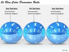Stock Photo Business Strategy Process 3d Blue Color Decorative Balls Stock Photo Images