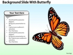 Stock Photo Business Strategy Process Background Slide With Butterfly Images Photos