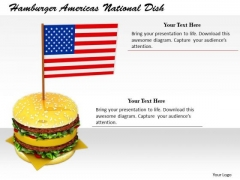 Stock Photo Business Strategy Review Hamburger Americas National Dish Icons