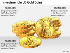 Stock Photo Business Strategy Review Investment Gold Coins Clipart Images