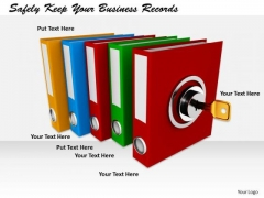 Stock Photo Business Strategy Safely Keep Your Records Pictures Images