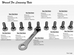 Stock Photo Business Strategy Wrench For Loosening Nuts Clipart