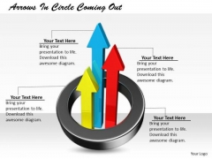 Stock Photo Business Unit Strategy Arrows Circle Coming Out Pictures Images