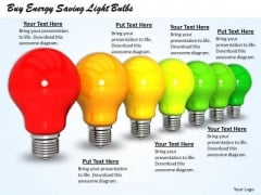 Stock Photo Buy Energy Saving Light Bulbs Ppt Template
