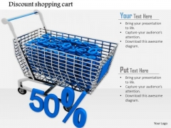 Stock Photo Cart Full With Discount Symbols PowerPoint Slide