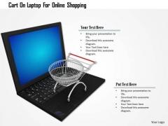 Stock Photo Cart On Laptop For Online Shopping PowerPoint Slide