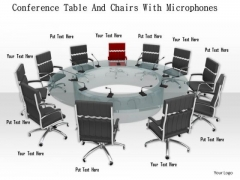 Stock Photo Chairs Around Conference Table PowerPoint Slide