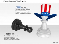 Stock Photo Chess Pawns Checkmate PowerPoint Slide