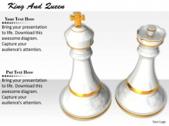 Stock Photo Chess Pieces King And Queen PowerPoint Slide