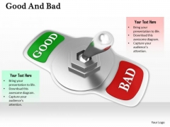Stock Photo Choose Between Good And Bad PowerPoint Slide