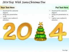 Stock Photo Christmas Tree With 2014 Year Text PowerPoint Slide