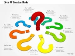 Stock Photo Circle Of Question Marks PowerPoint Slide