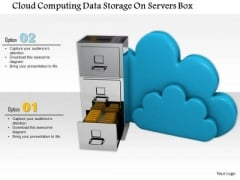 Stock Photo Cloud Computing Data Storage Concept PowerPoint Slide