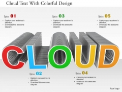 Stock Photo Cloud Text With Colorful Design PowerPoint Slide