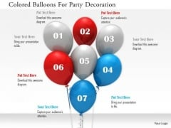 Stock Photo Colored Balloons For Party Decoration PowerPoint Slide