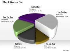 Stock Photo Colorful 3d Pie Chart For Business Result PowerPoint Slide