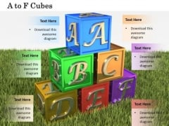 Stock Photo Colorful Alphabet Cubes For School PowerPoint Slide