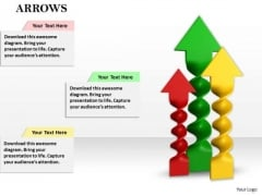 Stock Photo Colorful Arrows In Upward Position PowerPoint Slide