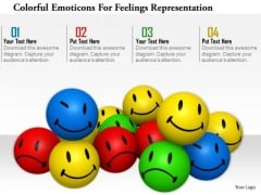 Stock Photo Colorful Emotions For Feelings Representation Image Graphics For PowerPoint Slide