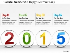 Stock Photo Colorful Numbers Of Happy New Year 2015 PowerPoint Slide