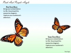 Stock Photo Colorful Picture Of Butterflies PowerPoint Slide