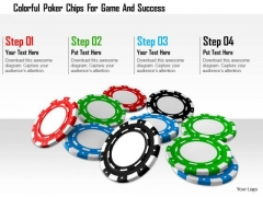 Stock Photo Colorful Poker Chips For Game And Success PowerPoint Slide