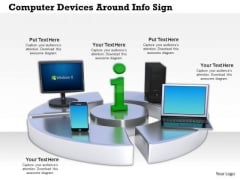 Stock Photo Computer Devices Smartphone Around Info Sign PowerPoint Slide