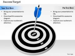 Stock Photo Concept Of 100 Percent Target Achivement PowerPoint Slide