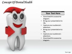 Stock Photo Concept Of Dental Health PowerPoint Template