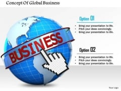 Stock Photo Concept Of Global Business PowerPoint Slide
