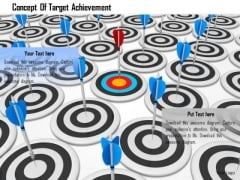 Stock Photo Concept Of Target Achievement PowerPoint Slide