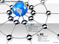 Stock Photo Conceptual Image Of Business Networking PowerPoint Slide