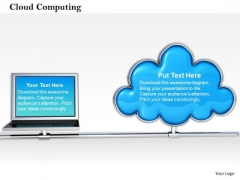 Stock Photo Conceptual Image Of Cloud Computing Pwerpoint Slide