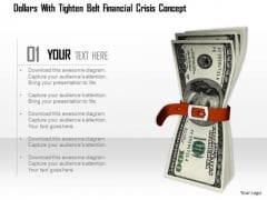 Stock Photo Conceptual Image Of Financial Crisis PowerPoint Slide