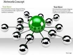 Stock Photo Conceptual Image Of Leadership Network PowerPoint Slide