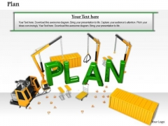 Stock Photo Conceptual Image Of Plan Construction PowerPoint Slide