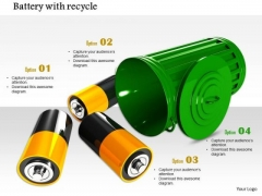 Stock Photo Conceptual Image Of Recycling Battery PowerPoint Slide