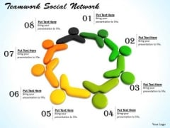 Stock Photo Conceptual Image Of Social Network Pwerpoint Slide
