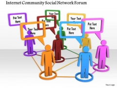 Stock Photo Connect With Social Network Through Internet PowerPoint Slide