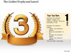 Stock Photo Copper Laurel Trophy For Winner PowerPoint Slide