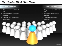 Stock Photo Corporate Business Strategy 3d Leader With His Team Images