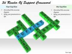 Stock Photo Corporate Business Strategy 3d Render Of Support Crossword Images