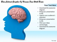 Stock Photo Corporate Business Strategy Blue Colored Graphic Of Human Face With Brain Clipart Images